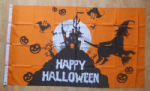 Happy Halloween Scene Large Flag - 5' x 3'.
